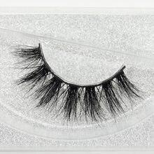 Visofree 100% Handmade Eye Lashes 3D prawdziwa norka makijaż grube fałszywe rzęsy z brokatem opakowanie D108