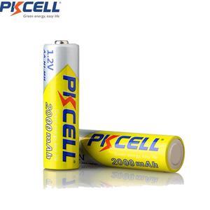 Image 3 - 8 ピース/ロットpkcell aa電池ニッケル水素 2A 2000 2600mahの 1.2v単三充電式バッテリーaa/aaaニッケル水素バッテリー充電器