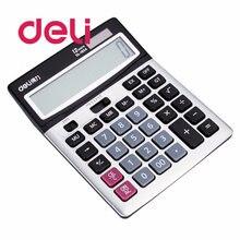Deli 1 шт 12 цифр дисплей Настольный калькулятор большой голос