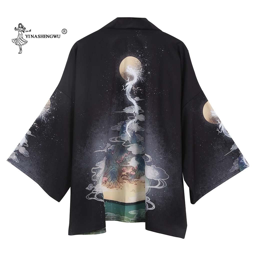Japanese Kimono Traditional Print Yukata Men Women Kimonos Cardigan Men Femme Coat Kimono Cosplay Costumes Unisex Leisure Shirts