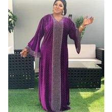 Бархатные африканские платья для женщин осень 2020 африканская