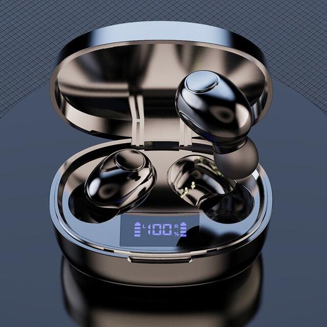 Tws אלחוטי Bluetooth אוזניות אוזניות רעש ביטול טעינת תיבת ספורט עמיד למים Bluetooth 5.1 אוזניות עבור כל טלפון