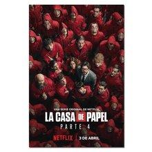 La casa de papel poster imprime filme tv temporada 4 3 2 1 dinheiro roubo parede arte imagem decoração da casa de papel lona cartazes