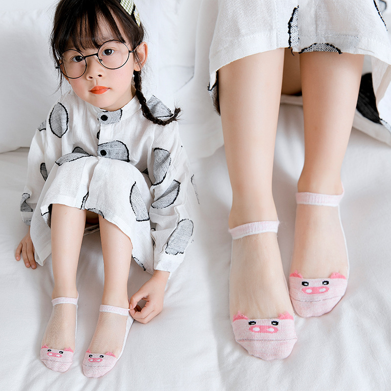 Spring And Summer New Style Heel Stereo Cotton Men And Women BABY'S Socks Mesh Cool No-show Socks CHILDREN'S Socks Spring And Su