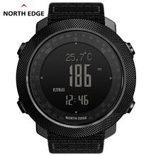 North Edge Men Sports Watches Waterproof 50M LED Digital Watch Military Compass Altitude Barometer