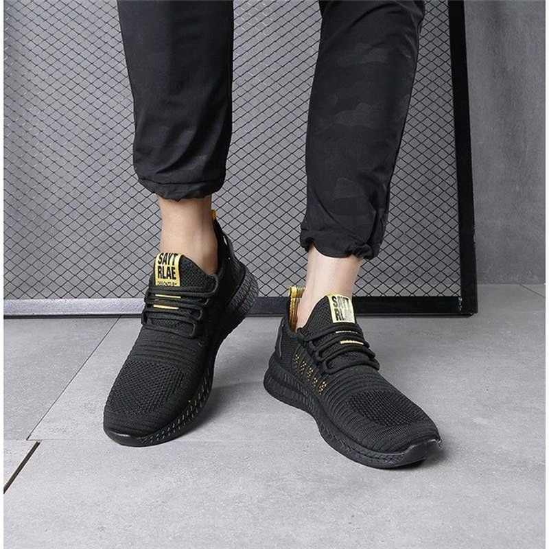 Baru untuk Pria Sepatu Kasual Sepatu Lac-UP Sepatu Pria Ringan Nyaman Bernapas Berjalan Sepatu Zapatillas Hombre B1352