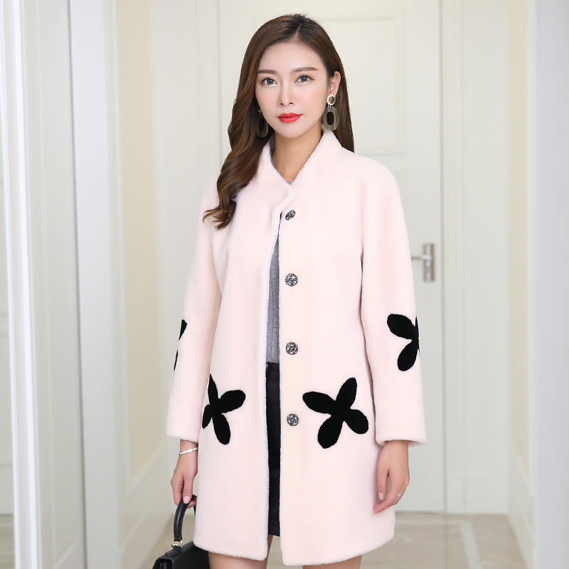 Autumn Winter Coat Women Clothes 2020 Wool Jacket Real Fur Coat Korean Vintage Sheep Shearling Women Tops Abrigo Mujer XCY751