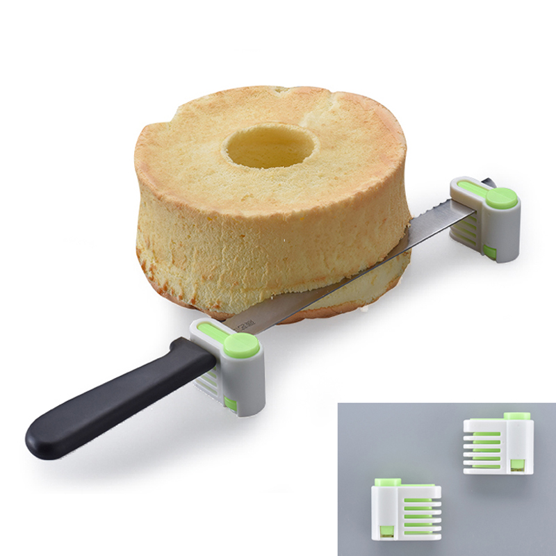 2PC/Lot 5 Layers DIY Cake Bread Cutter Leveler Slicer Cutting Fixator Kitchen Accessoires Tool