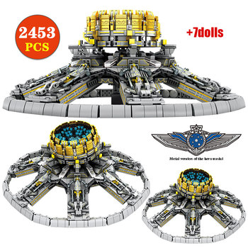 2453pcs City Police Military Wandering Earth Universe Planetary Engine Building Blocks for Technic Bricks Toys for Boys