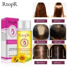 RtopR эфирное масло для волос предотвращает выпадение волос продукт эфирное масло для роста волос легко переносить Уход за волосами уход за к...