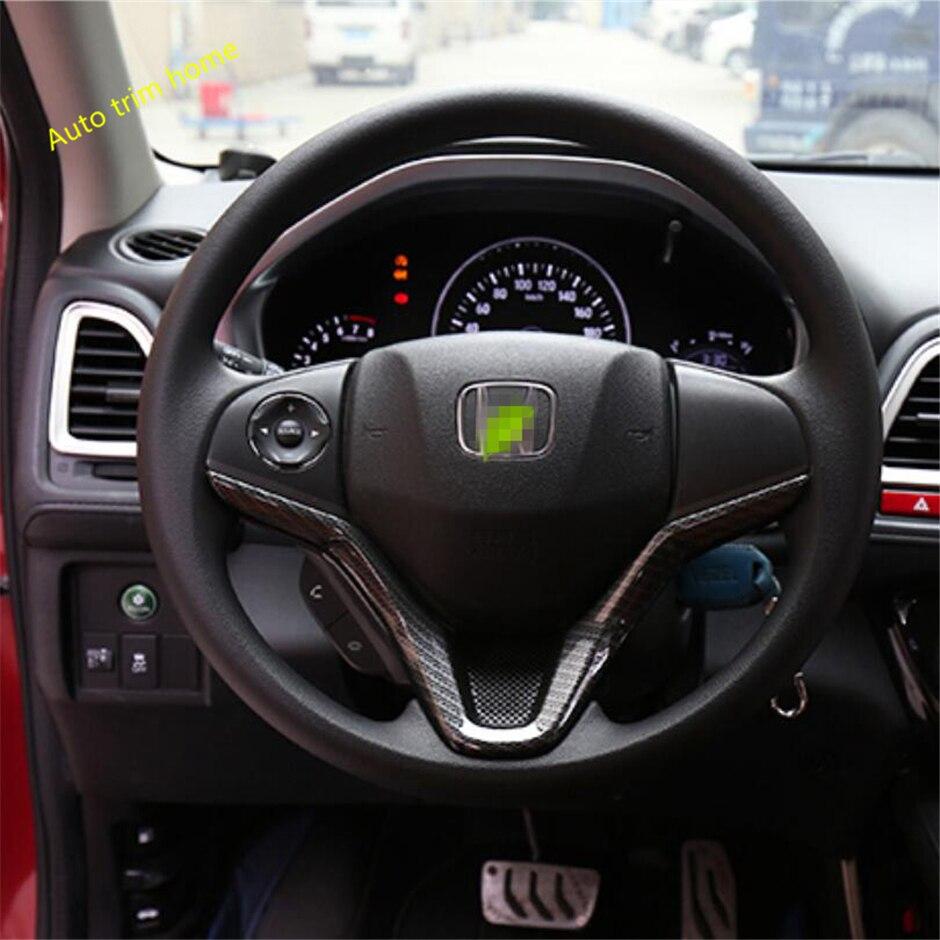 Lapetus Steering Wheel Strip Cover Trim Fit For Honda Vezel HR-V 2014 - 2019 ABS Matte / Carbon Fiber / Auto Accessories