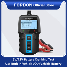 TOPDON BT100 Auto Batterie Tester Ladegerät Analysator 12V 2000CCA Spannung Batterie Test Auto Batterie Tester Lade Cricut Last Werkzeuge