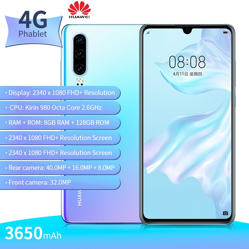 HUAWEI P30 4G Smartphone 128gb LTE/WCDMA/GSM Octa Core Fingerprint Recognition 40MP New