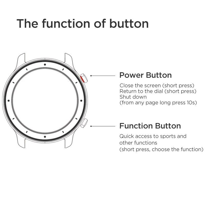 En existencia versión Global nuevo reloj inteligente Amazfit GTR 42mm reloj inteligente 5ATM 12 días batería Control de música para Xiaomi Android IOS - 6