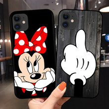 Hot for Funda iPhone 11 Pro Case 5 5S 6 6S 7 8 Plus X XS Max 2020 Minnie for Cover iPhone 7 Case Soft TPU for iPhone XR Case(China)