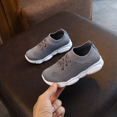 New Baby Sneakers 2019 Fashion Children Flat Shoes Infant Kids Baby Girls Boys Solid Stretch Mesh Sport Run Sneakers Shoes Multan