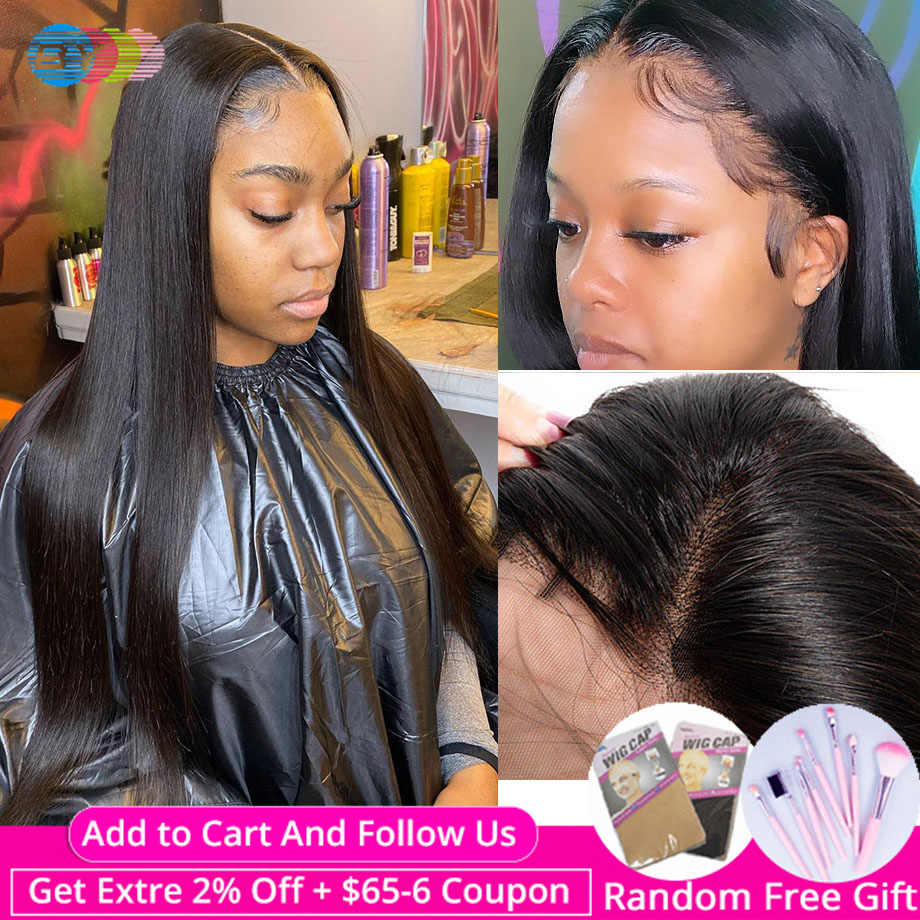 360 Lace Frontal Wig Pre Plucked  With Baby Hair Straight Human Hair Wigs For Black Women Brazilian Wig Remy Hair 150% BY Hair
