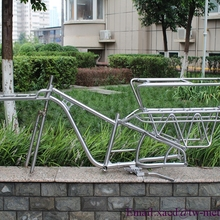 Титановая рама грузового велосипеда с 1-1/8 ''головкой трубки и thru осевой dropouts BSA резьба BB оболочка пара задняя стойка