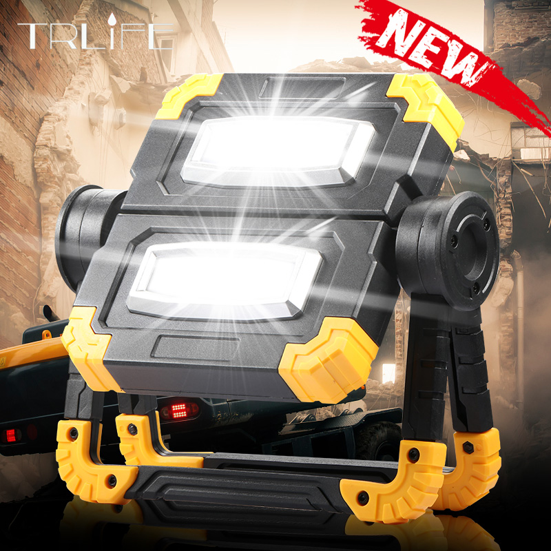 150W NEW Work Lamp USB Rechargeable Outdoor Portable Searchlight Camping Light Double Head COB Anti-fall Flood Campe Spotlight