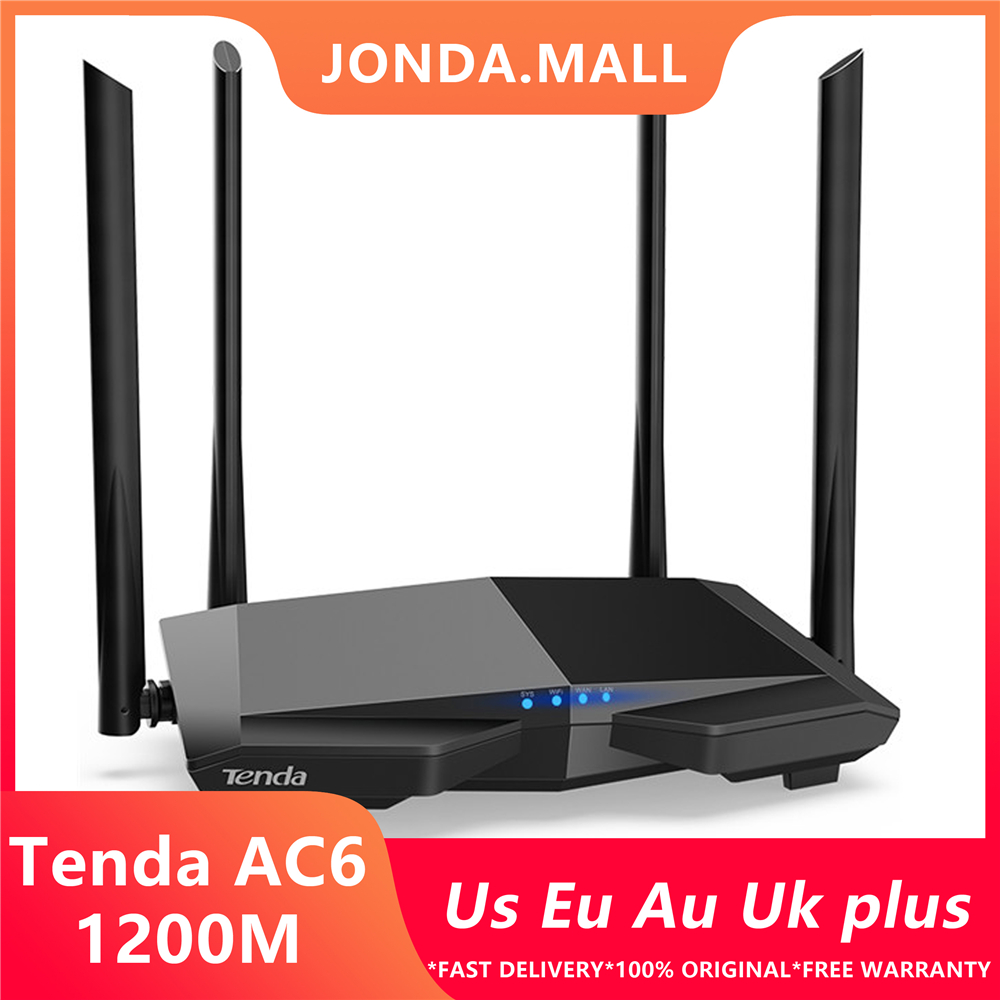Tenda AC6 AC1200 Smart Dual-Band WiFi Router WI-FI Repeater  Wireless WIFI Routers 11AC 2.4G/5.0GHz High As 1167Mbps