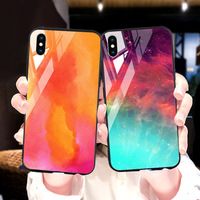silicone case Tempered Glass Case For apple iphone XS MAX XR X XS glass Cases Space Silicone Covers for Iphone 6 6s 7 8 plus back cover (1)