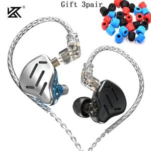 Image 1 - KZ ZAX Headset 16 Units HIFI Bass In Ear Monitor Hybrid technology Earphones Noise Cancelling Earbuds 7BA+1DD Sport Headphones