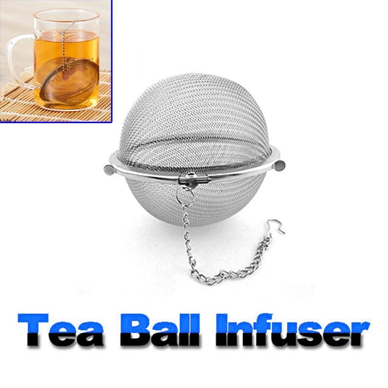 Stainless Steel Tea Strainer Locking Spice Tea Pot Infuser Mesh Ball Filter BJStore