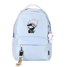 Anime Naruto Sasuke Backpack Cute School Bags for Teenage Boys Girls Laptop Backpack Small Women Travel Bags Gift Bag for Kids