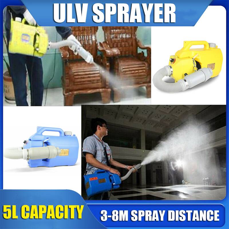 220V 1000W Electric Fogger Machine Disinfection Handheld Sterilization 5L Capacity Sprayer ULV Cold Fogger Disfectant Tool