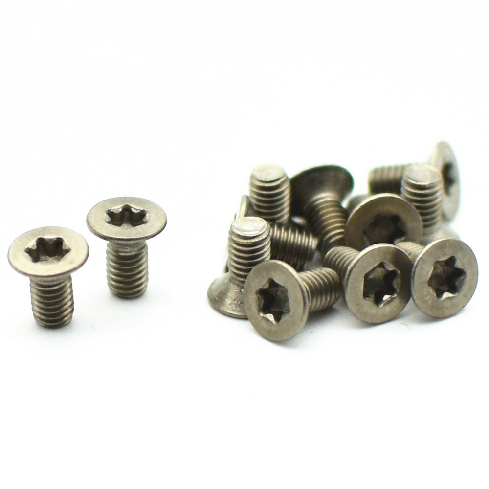 24pcs Torx Countersunk Head Ti Screws M1.6 <font><b>M2</b></font> <font><b>3mm</b></font>-6mm Titanium Screw Flat Torx Drive Titanium <font><b>Bolts</b></font> Ti Fastener DIN912 image