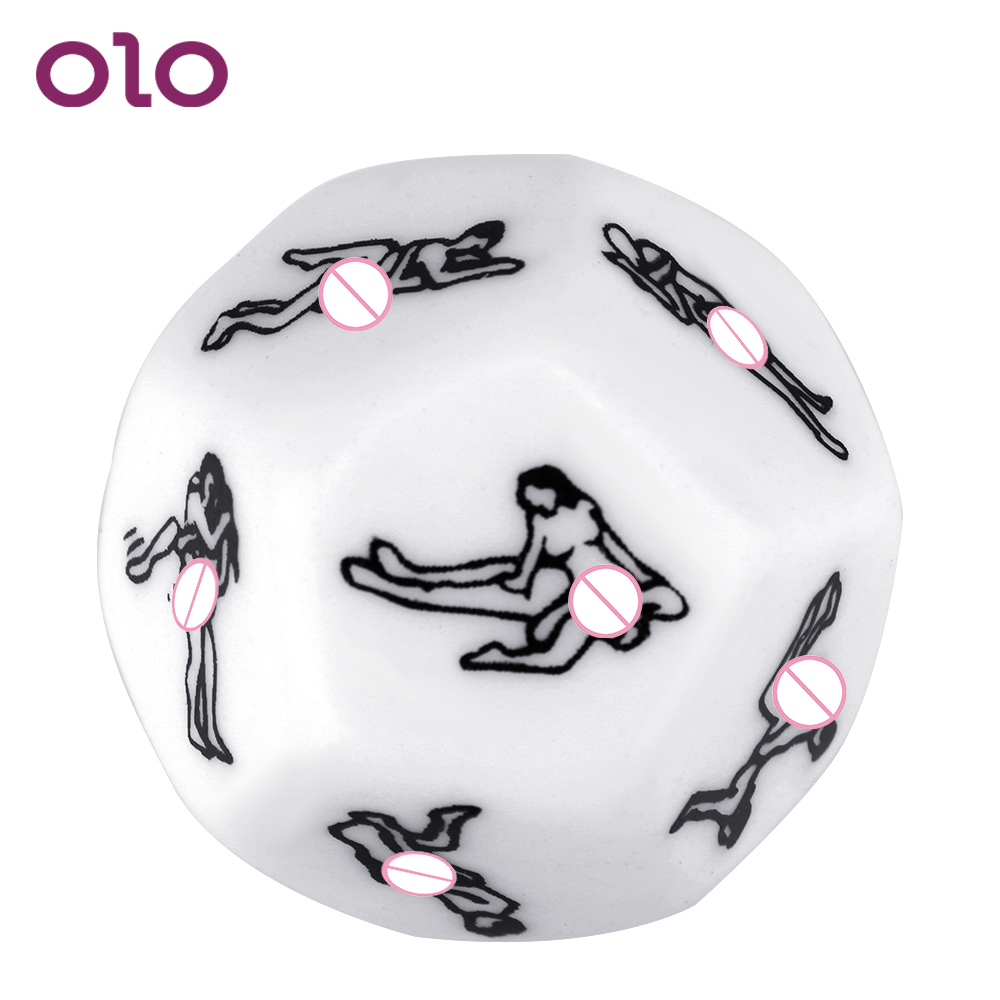 OLO Sex Dice Love Sexy Posture Humour Gambling 12 Sides Foreplay Gift Erotic Craps Dice Funny Adult Game Sex Toys For Couple