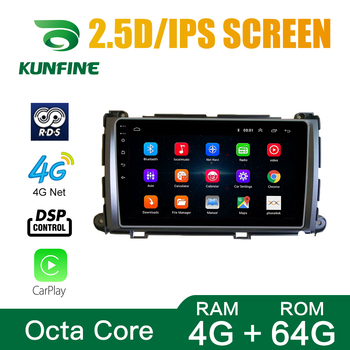 Octa Core Android 10.0 Car DVD GPS Navigation Player Deckless Car Stereo For Toyota Sienna 2010-2014 Radio Headunit image