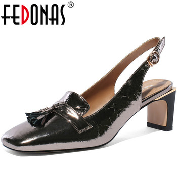 FEDONAS New 2020 Sexy Women Square Toe Pumps Glitters Night Club Shoes Woman High Heels Prom Basic Pumps Spring Summer Shoes