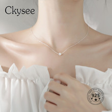 Ckysee 925 Sterling Silver Necklace Transfer Bead Pendant Necklace For Ladies 2020 Fashion Daily Jewelry