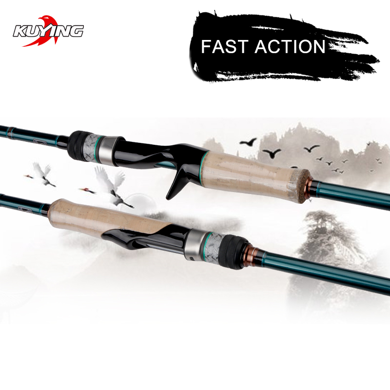 KUYING BATTLE SONG 1.9 1.95 1.98 2.04 2.05 2.16 2.19m Spinning Casting Fishing Lure Rod Stick Cane FUJI Parts Light FAST Action image