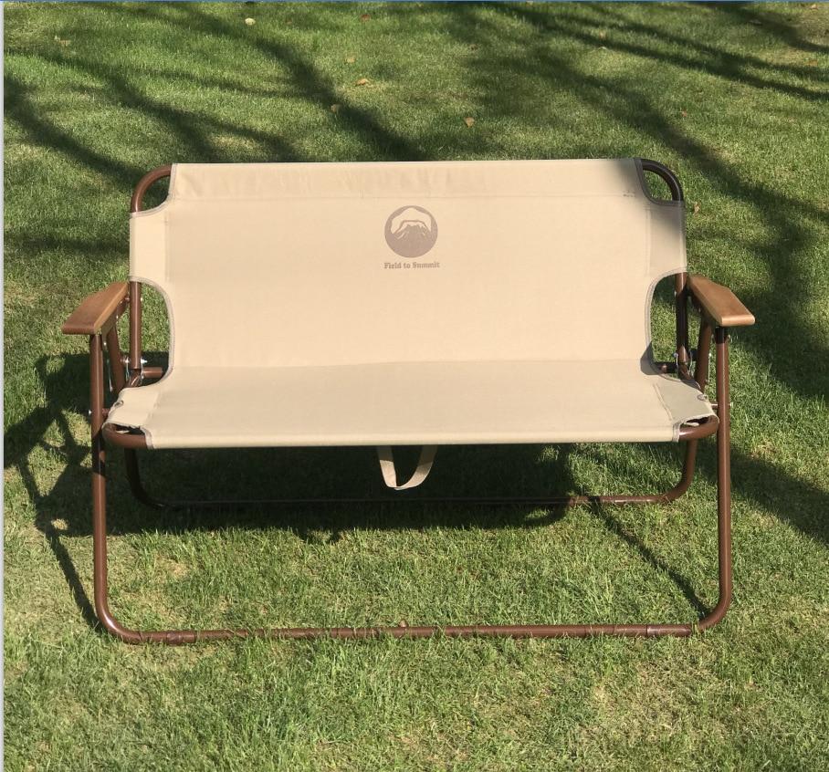 JOYLOVE Spot Supply Japan And Korea Double Folding Chair Outdoor Camping Picnic Beach Chair Portable Leisure Backrest Chair
