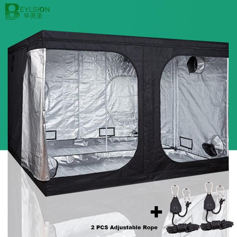 BEYLSION 600D tienda de cultivo protector de cultivo tienda interior hidropónica tienda de cultivo plantas tienda de campaña para cultivo de plantas invernadero + kit de cuerda|Piezas y accesorios de iluminación de cultivo|   - AliExpress