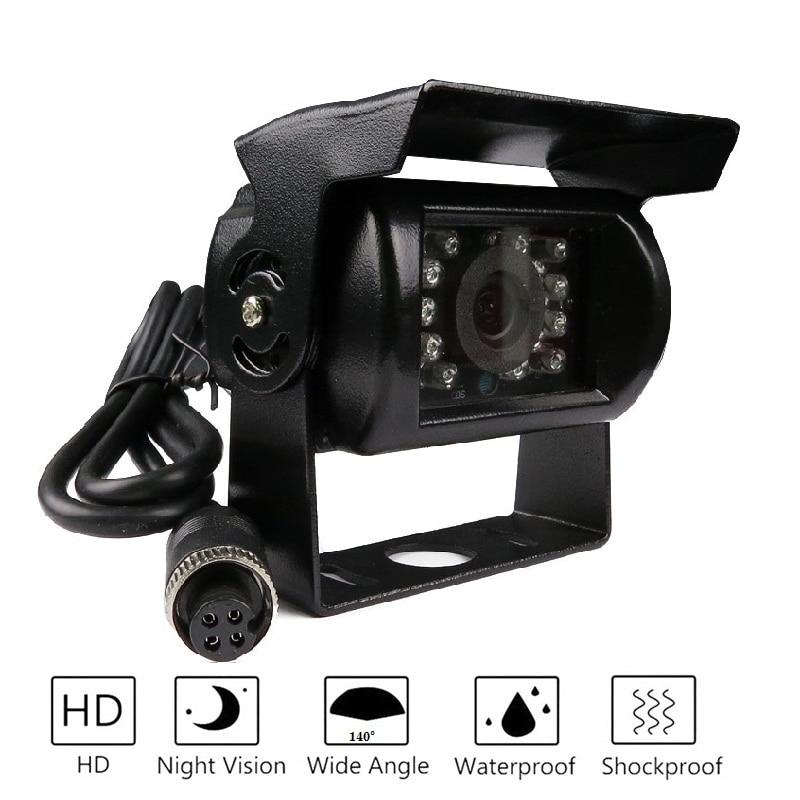 משלוח חינם! משלוח חינם מותג חדש 4 פינים 800TVL CMOS IR ראיית לילה עמיד למים מבט אחורי לרכב גיבוי הפוך מצלמה עבור