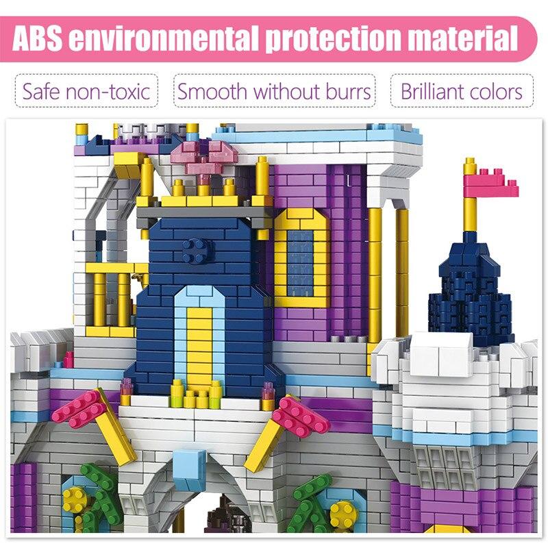 castelo 3d modelo diy mini blocos construcao diamante 03