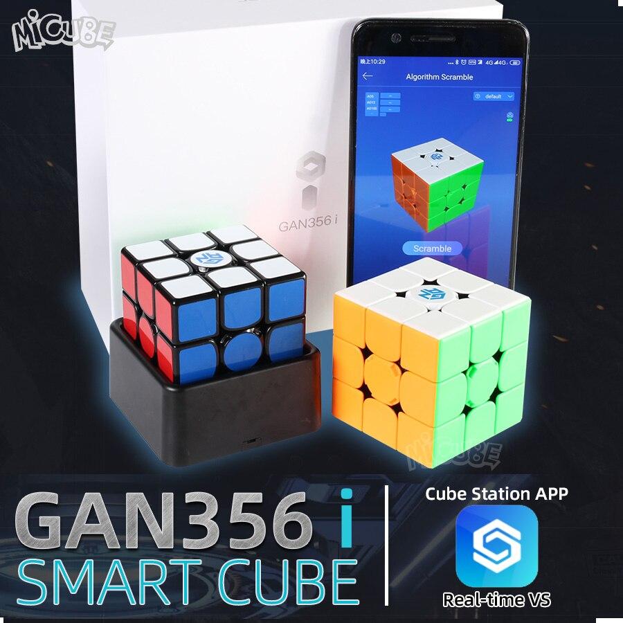 Gan356 i cubo mágico magnético de velocidade 3x3x3 gan356i cube station app gan 356i ímãs concorrência em linha cubos gan 356