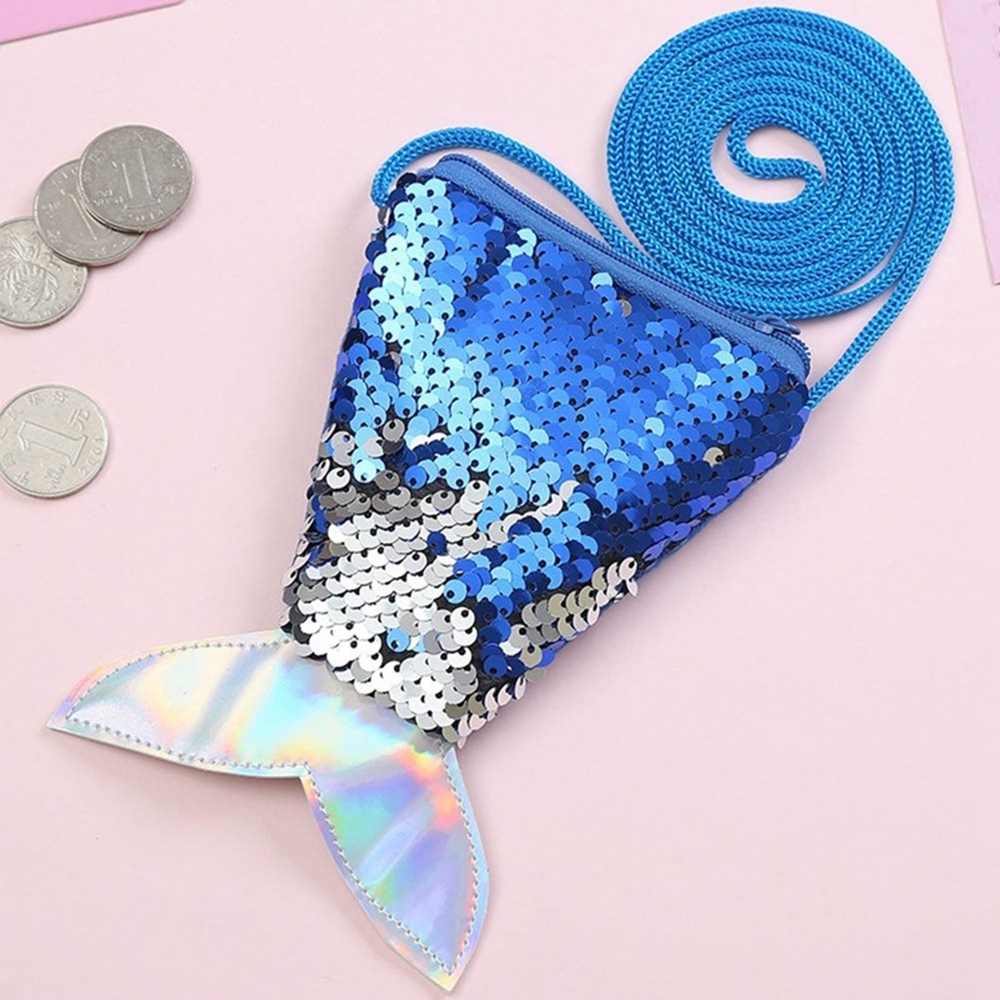 Handbags Pouch Packet Coin-Purses Wallets Cute Fish-Shape Small Girls Children Sequins