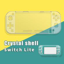 For Nintend Switch Lite Silicone Protection case Crystal Clear mini shell Cover with Tempered Glass screen protector