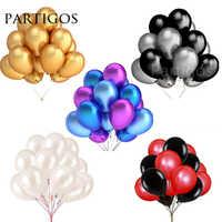 30 pcs/lot 2.2g 10 pouces perle or argent noir Latex ballons anniversaire fête de mariage décor Air hélium Globos enfants cadeaux fournitures