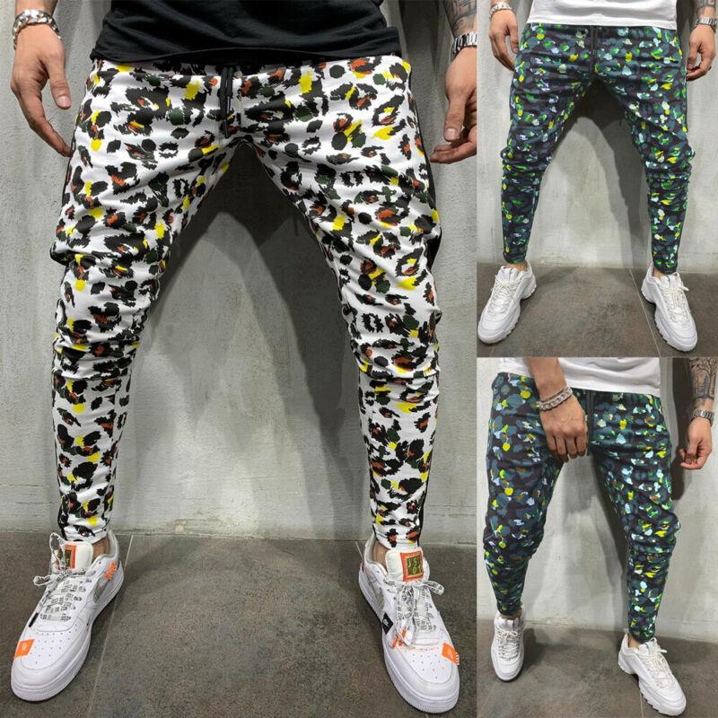 2020 HOT Men Flower Pants Hip Hop Harem Joggers Pants New Male Trousers Mens Joggers Patchwork Pants Sweatpants