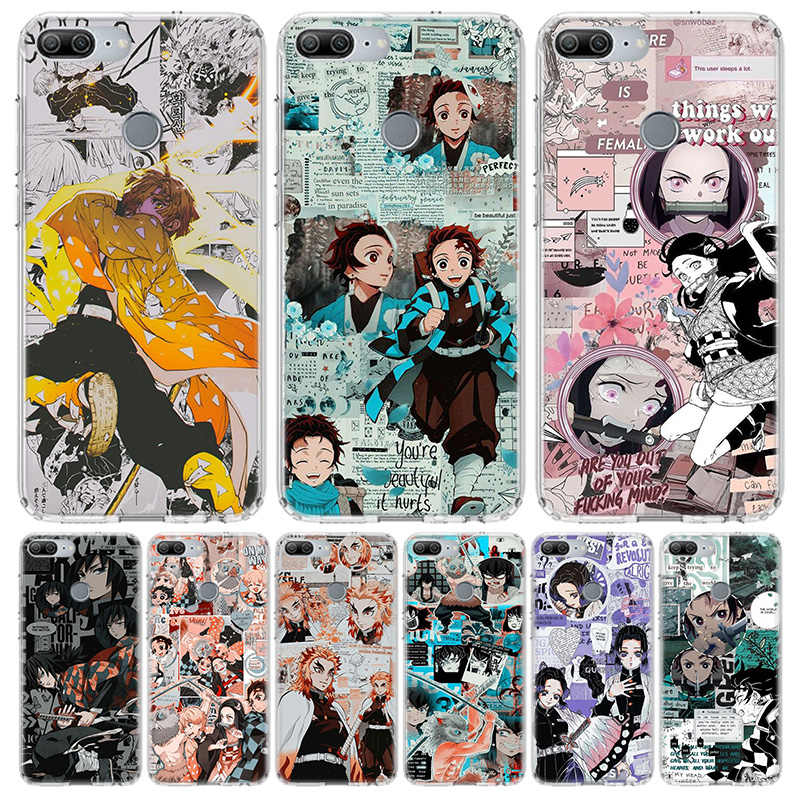 Kimetsu No Yaiba Demone Slayer Anime Cassa Del Telefono per Huawei Honor 10 9 Lite Y9 Y5 Y6 Y7 2019 8X 8A 8S 7A 7X 10i 20i Pro V30 Arte Co