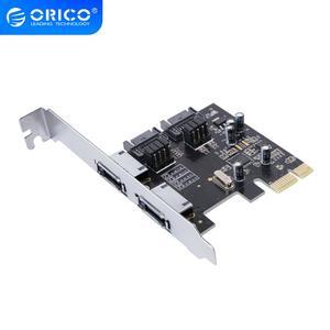Orico Pci-E Naar SATA3.0 & Esata Uitbreidingskaart ASM1061 Chip Pci-E X1 Naar Sata En Esata Ondersteuning 6Gbps Ncq protocol