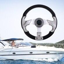 Volante marinho de 12.4 315mm, 3/4, eixo afunilado, não direcional, 3 raios, volante para acessório do barco de iate