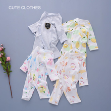 Baby Cotton Onesies Unisex Cartoon Style Not Hooded Long Sleeve Trousers Wearing Comfortable O-Neck HDY001