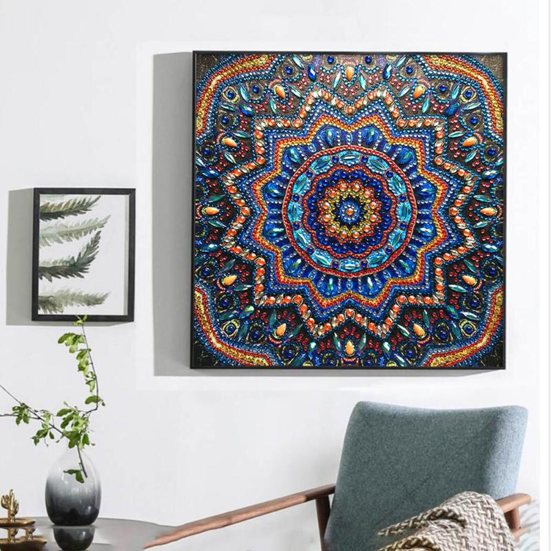 5D DIY Special Shaped Diamond Painting Colorful Tree Cross Stitch Mosaic Gifts