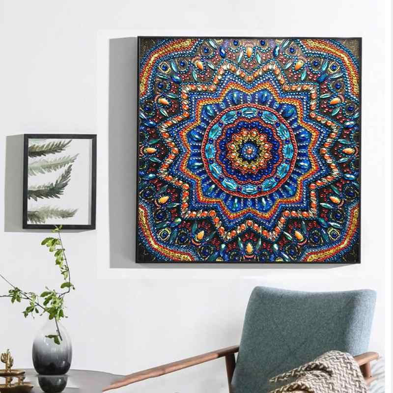 5D DIY Special Shaped Diamond Painting Geometric Cross Stitch Embroidery Diamond Painting Mosaic Kit for Wall Decoration Gifts